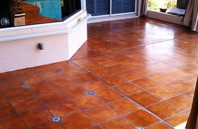 Mexican Tile Floor in in Home