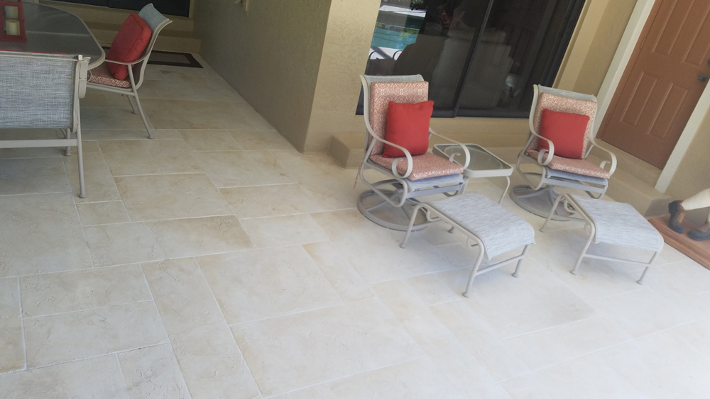 Outdoor Home Patio with Resurfaced Flooring
